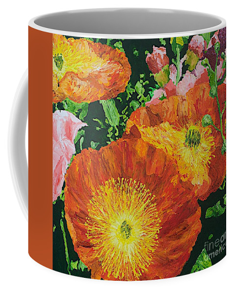 Landscape Coffee Mug featuring the painting Exuberance is Beauty by Allan P Friedlander