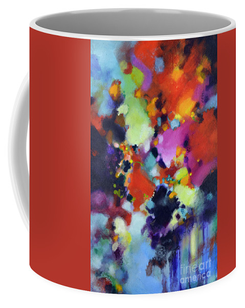 Texture Coffee Mug featuring the painting Exultation by Sally Trace
