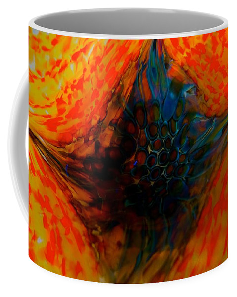 Dragons Coffee Mug featuring the photograph Eye Of A Fire Dragon by Tim G Ross