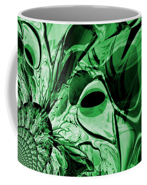 Dragon Coffee Mug featuring the digital art Eye Of The Crystal Dragon by Maria Urso