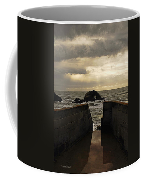 Clouds Coffee Mug featuring the photograph Eye Of The Storm by Donna Blackhall