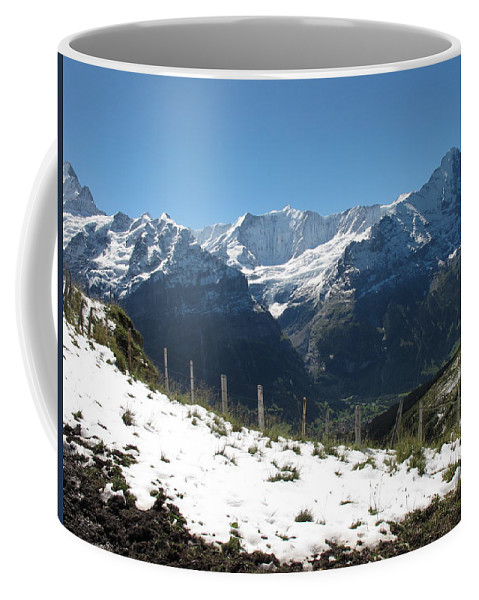 Eiger Coffee Mug featuring the photograph Eyeful Of The Eiger by Mary Ellen Mueller Legault