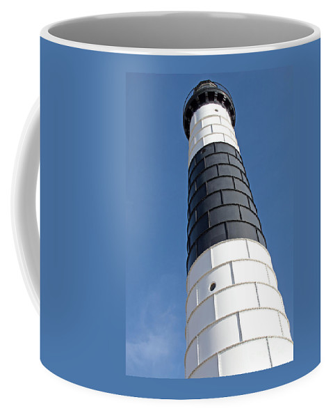 Lighthouse Coffee Mug featuring the photograph Eying Big Sable by Ann Horn