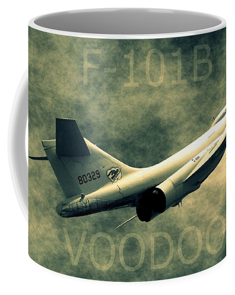 Northcutt Coffee Mug featuring the photograph F-101b Voodoo by Betty Northcutt