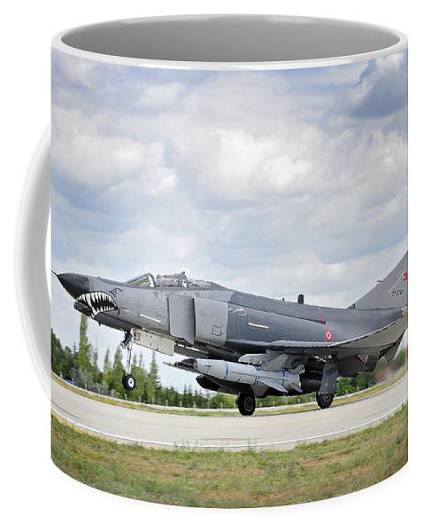 Phantom Coffee Mug featuring the photograph F4e Phantom II Aircraft by Paul Fearn