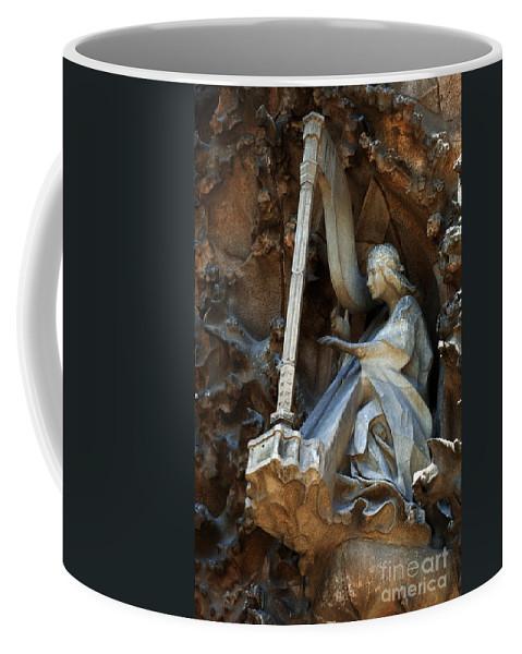 Passion Facade Coffee Mug featuring the photograph Facade Of Sagrada Familia by Bob Christopher
