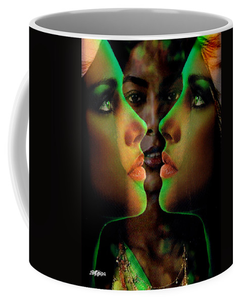 Women Coffee Mug featuring the digital art Face 2 Face by Seth Weaver