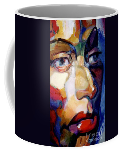 Woman Coffee Mug featuring the painting Face Of A Woman by Stan Esson