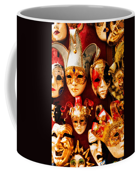 Venice Coffee Mug featuring the photograph Faces Of Carnavale by Mick Burkey