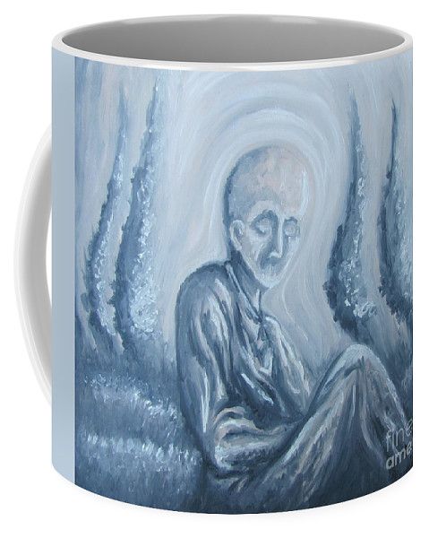 Tmad Coffee Mug featuring the painting Fade Away by Michael TMAD Finney