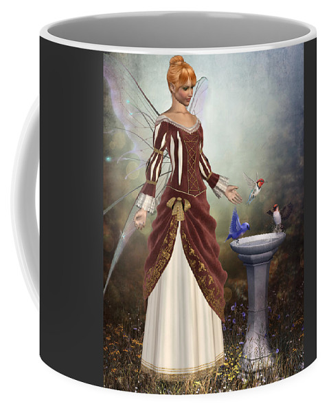 Woman Coffee Mug featuring the digital art Faerie Garden by David Griffith