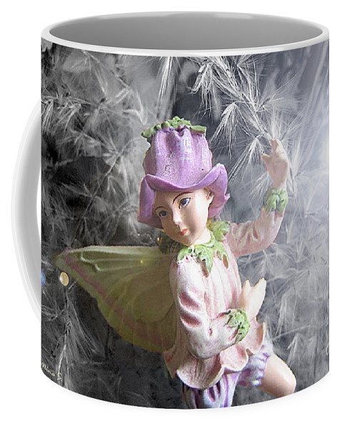 Fairy Coffee Mug featuring the photograph Fairy Hiding From The Light by Nina Silver