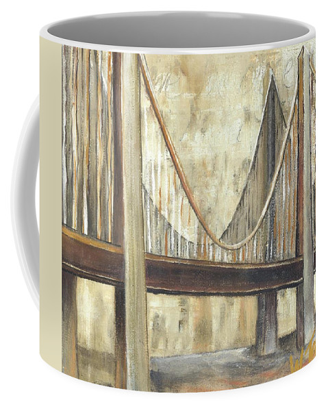 Bridge Coffee Mug featuring the painting 'faith' by Whitney Tomlin