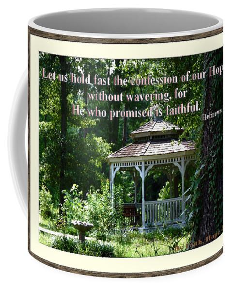 Gazebo Coffee Mug featuring the photograph Faithful by Leticia Latocki