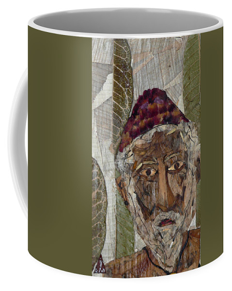Portrait.holy Person Portrait Coffee Mug featuring the mixed media Fakeer by basant Soni