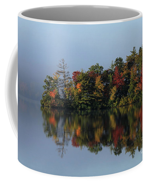 Landscape Coffee Mug featuring the photograph Fall At Heart Pond by Kenny Glotfelty