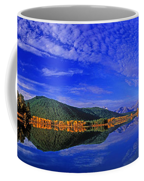 North America Coffee Mug featuring the photograph Fall Color Oxbow Bend Grand Tetons National Park Wyoming by Dave Welling