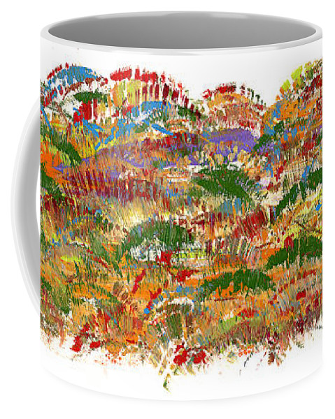 Trees Coffee Mug featuring the painting Fall Colours by Bjorn Sjogren