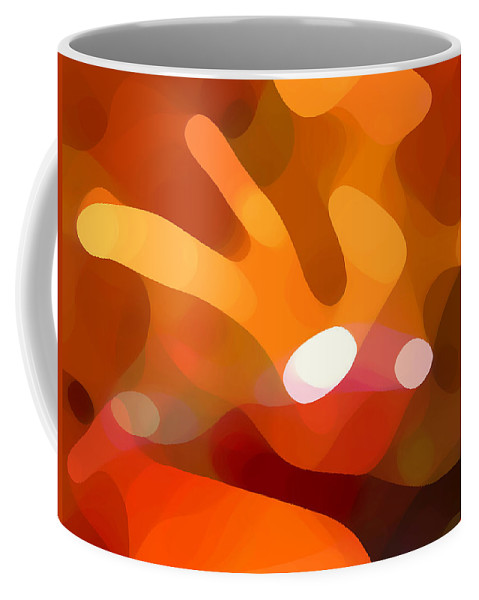 Abstract Coffee Mug featuring the painting Fall Day by Amy Vangsgard