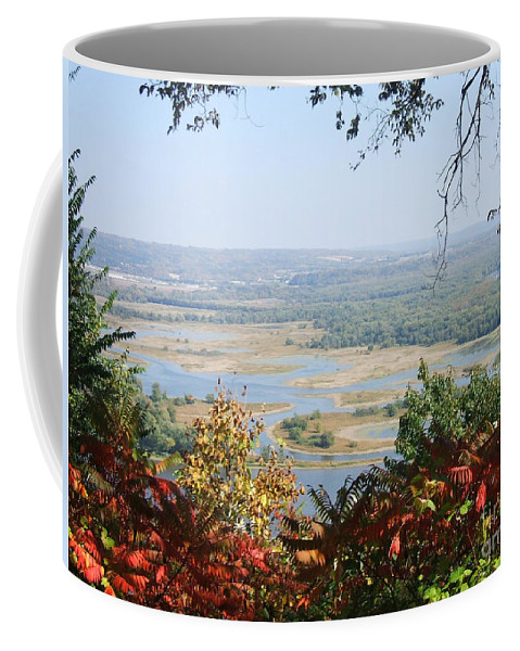 Trees Leaves Coffee Mug featuring the photograph Fall Framed Islands by Minding My Visions by Adri and Ray
