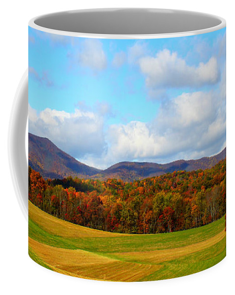 Fall Coffee Mug featuring the digital art Fall In Rocky Mount by Tina Meador