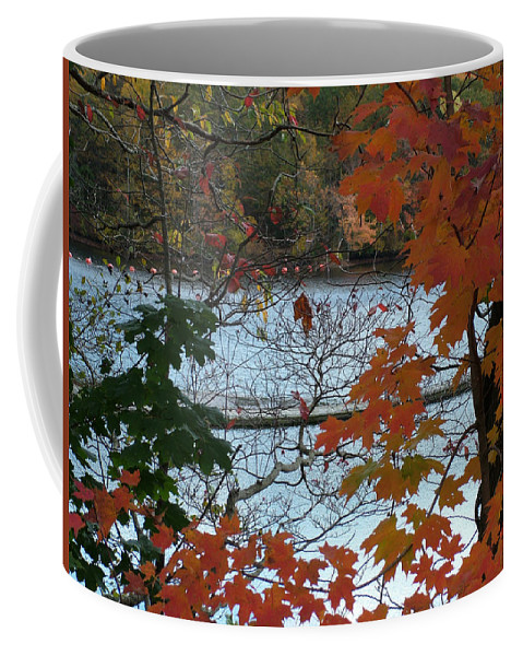 Fall Coffee Mug featuring the photograph Fall On The Shetucket by Geoffrey McLean