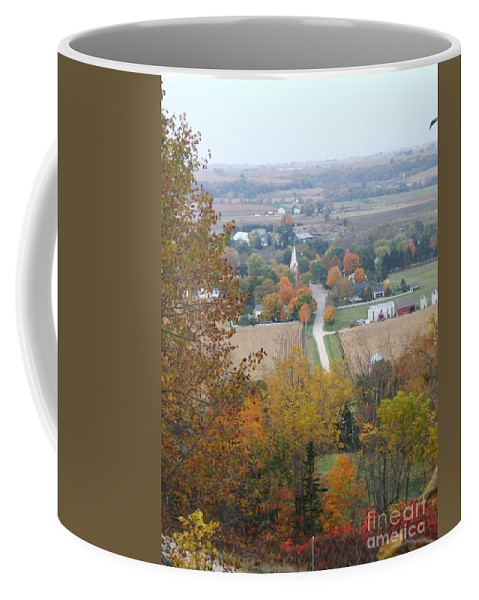 Nature Coffee Mug featuring the photograph Fall Overlook by Minding My Visions by Adri and Ray