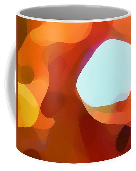 Abstract Coffee Mug featuring the painting Fall Passage by Amy Vangsgard