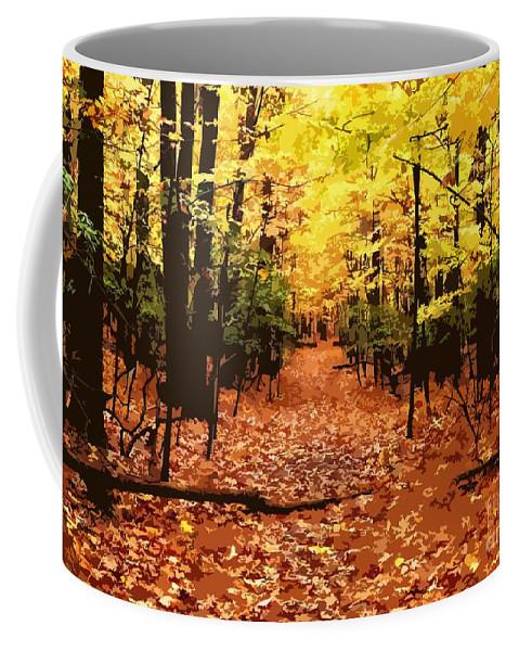 Fall Coffee Mug featuring the photograph Fall Path by Jefferson Hobbs