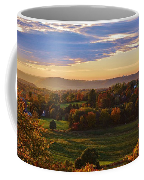 Fall Coffee Mug featuring the photograph Fall Sunset by Lisa Kane