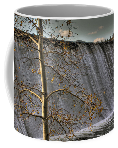 Dam Coffee Mug featuring the photograph Fall Time Waterfall by Chance Chenoweth