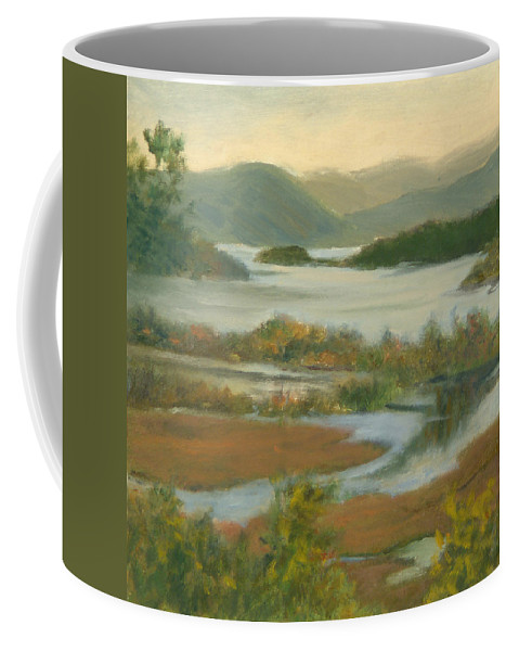 Boscobel Coffee Mug featuring the painting Fall View From Boscobel by Phyllis Tarlow