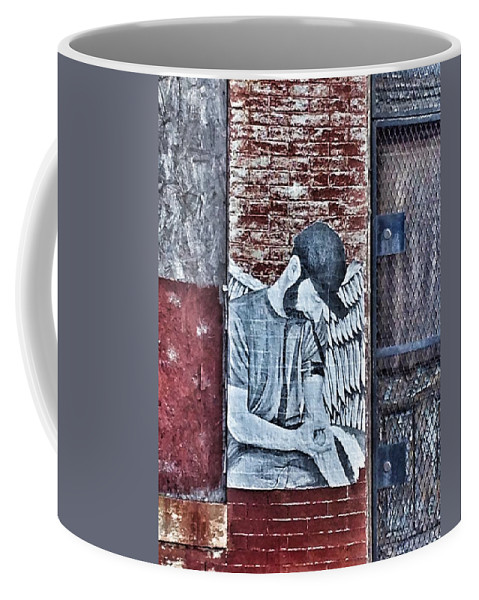 Fallen Angel Coffee Mug featuring the photograph Fallen Angel by Marianna Mills