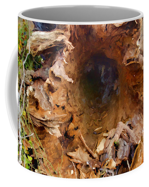 Wind Coffee Mug featuring the photograph Fallen Giant by Gary Holmes