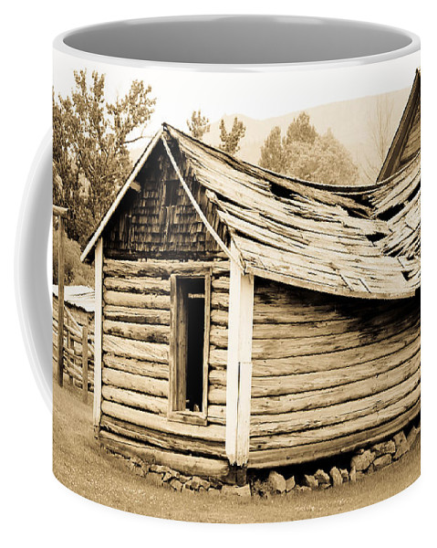 Cabin Coffee Mug featuring the photograph Fallen Homestead II by Athena Mckinzie