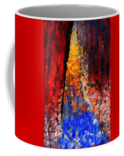 Abstract Coffee Mug featuring the painting Falling by Ian MacDonald