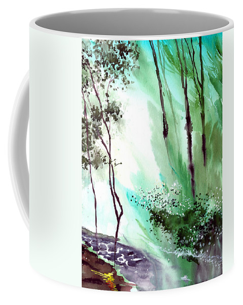 Nature Coffee Mug featuring the painting Falling Light by Anil Nene