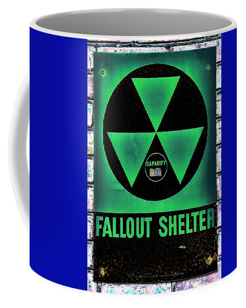 Fallout Coffee Mug featuring the photograph Fallout Shelter Wall 1 by Stephen Stookey