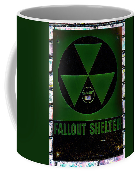 Fallout Coffee Mug featuring the photograph Fallout Shelter Wall 4 by Stephen Stookey