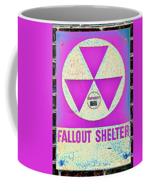 Fallout Coffee Mug featuring the photograph Fallout Shelter Wall 6 by Stephen Stookey