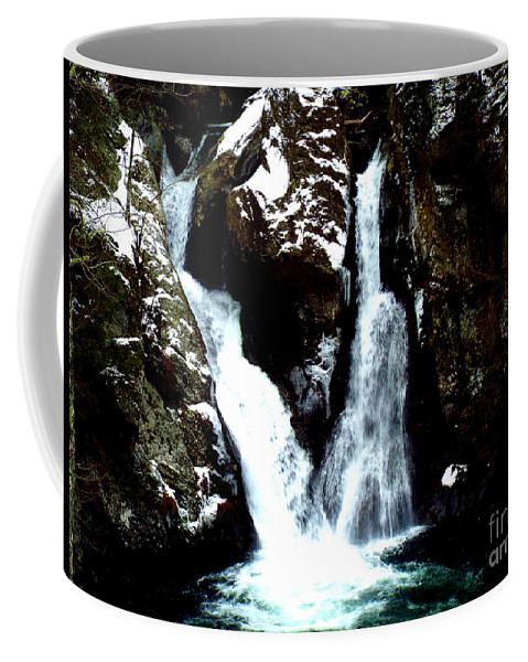 Nature Photography Coffee Mug featuring the photograph Falls In Winter by Rebecca Malo