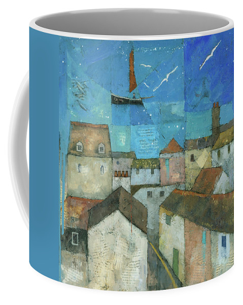 Abstract Coffee Mug featuring the painting Falmouth by Steve Mitchell