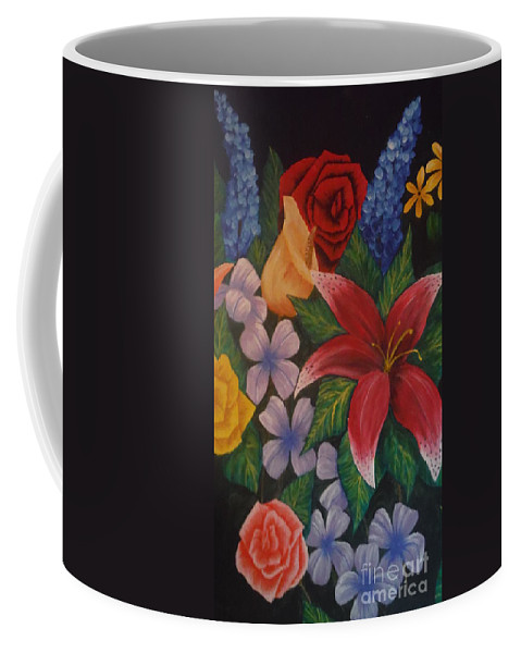 Family Coffee Mug featuring the painting Family Flowers by Barbara Stanley