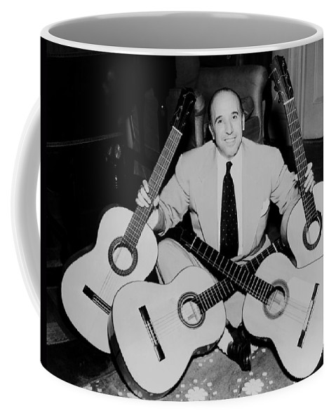 Carlos Montoya Coffee Mug featuring the photograph Famous Guitarist Carlos Montoya 1953 by Mountain Dreams