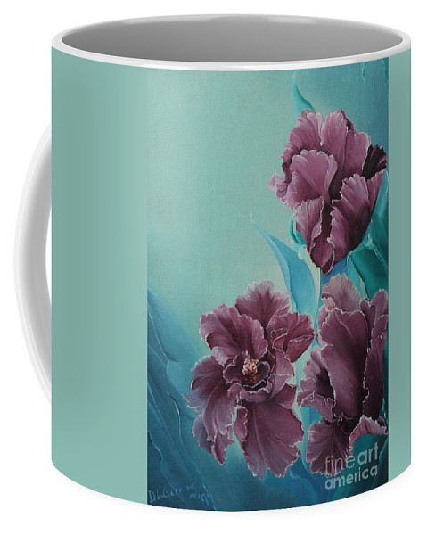 D.l.gerring Coffee Mug featuring the painting Fantasy Floral by D L Gerring