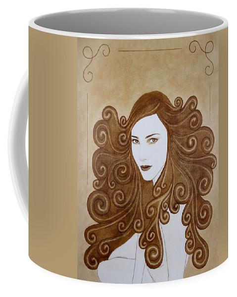Fantasy Coffee Mug featuring the painting Fantasy I by Lynet McDonald