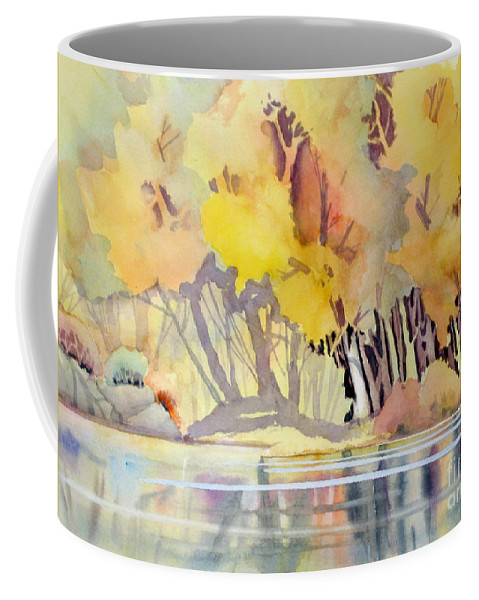 Negative Painting Coffee Mug featuring the painting Far Side Of The Pond by Mohamed Hirji