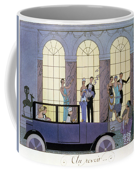 Print Coffee Mug featuring the painting Farewell by Georges Barbier