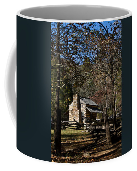 Farm Coffee Mug featuring the photograph Farm Cabin Cades Cove Tennessee by Douglas Barnett