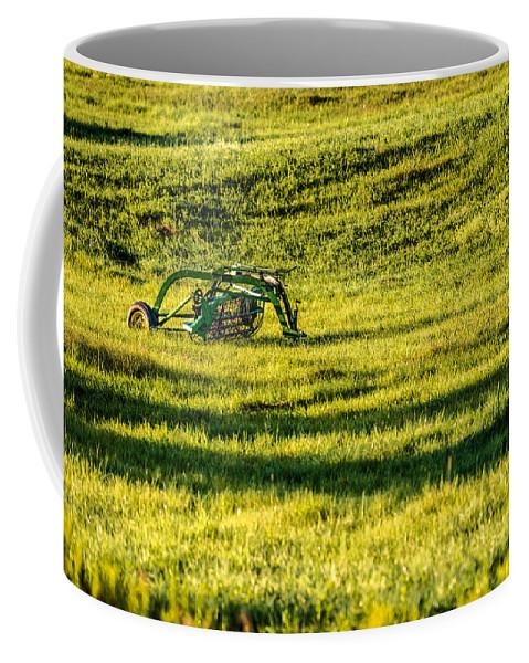 Farm Equipment Coffee Mug featuring the photograph Farm Equipment In A Field by Onyonet Photo Studios
